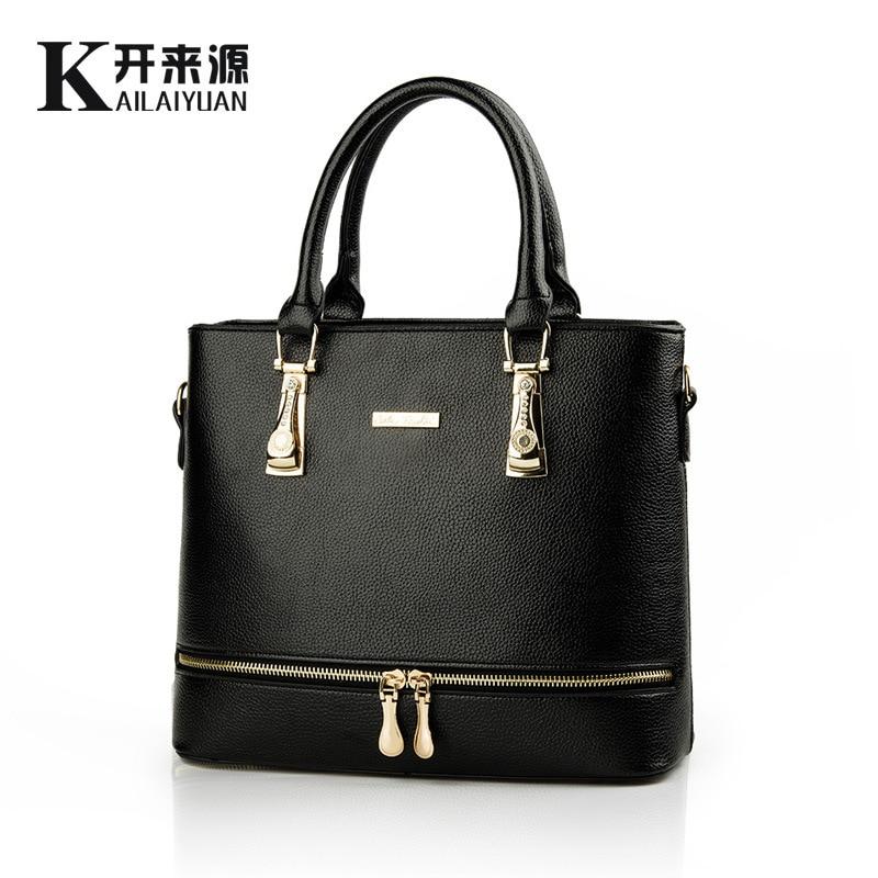 Women Bag 2017 New Fashion Shoulder Bags High Quality Women Messenger Bag Medium Women Tote Bag Leather Handbags Purse<br><br>Aliexpress