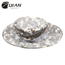 QIAN SAFETY Newest Camouflage Boonie Hats Mountaineering Caps 24 types Breathable cotton for Adult Military Accessories