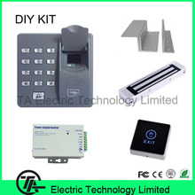 Biometric access control system X6 fingerprint and card door control system with 280KG EM lock bracket power supply exit button