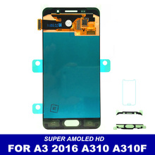100% Tested AMOLED LCD For Samsung Galaxy A3 2016 A310 A310F A310H A310M A310Y LCD Display Touch Screen Digitizer Assembly