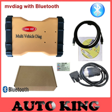 BLUETOOTH 2017 Multi Vehicle Diag mvdiag MVD 2015.3 R3 with keygen vd TCS CDP Pro LED 3IN1 obd2 diagnostic tool For Car Truck