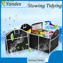 Car Styling Non-Woven Organizer Collapsible Toys Food Storage Cargo Container Box Bag Car Trunk(China)