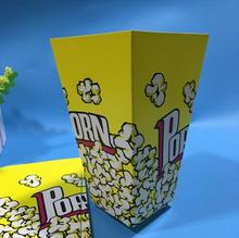 Free Shipping 100pcs/lot Yellow Popcorn Box Paper Cup Party Cinema Food Package Box