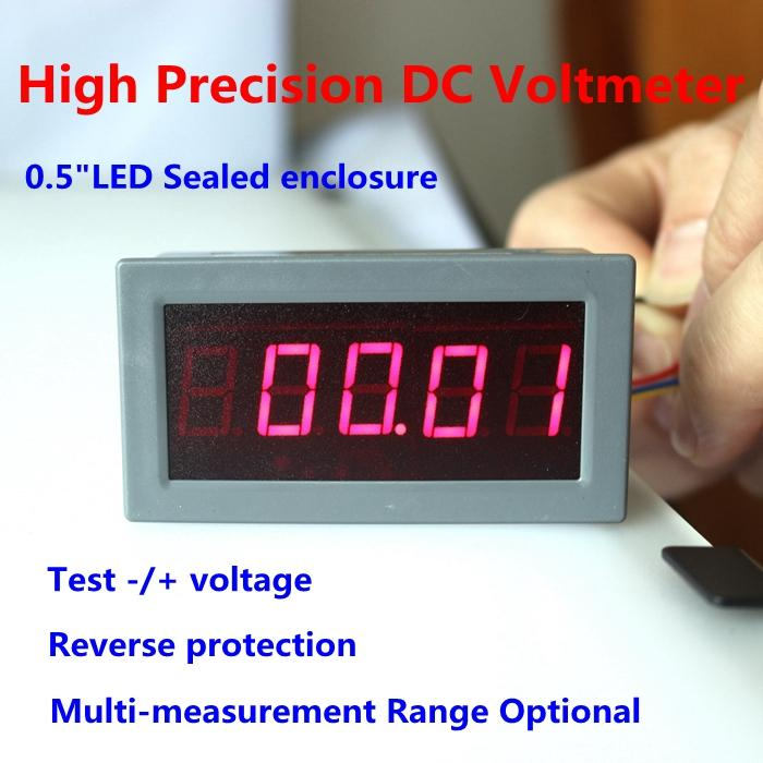 High precision accuracy 0.56 5 Digits DC Voltmeter Digital volt voltage meter panel Meter LED voltage Tester Gauge monitor<br><br>Aliexpress