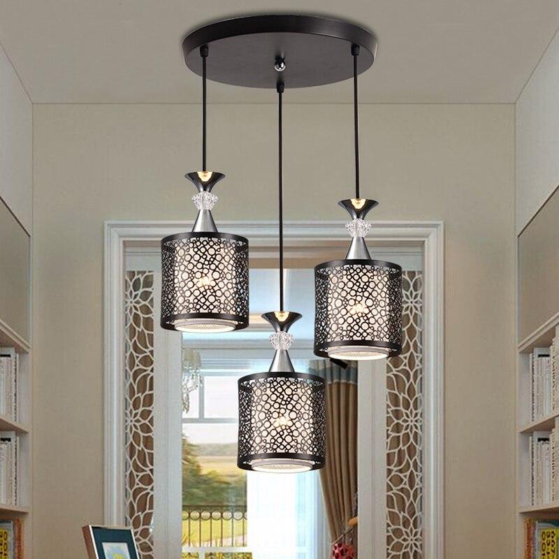 Simple Retro indoor lighting Vintage pendant light LED lights bedroom restaurant lamps Iron study lamp  <br>