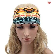 57854605b296 1 pc mode Femmes Lady Bohème Bandeau Stretch Bandeau Turban Sport Élastiques  Bande De Cheveux Tête Wraps Taille  Approx.20cm