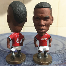 Soccerwe 6.5 cm Height Resin Football Star Doll united 2018 Season 6 Pogba Figure Red Kit Collections(China)