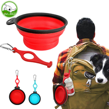 Collapsible Food Grade Silicone Dog Bowl Portable Pet Travel Bowl with Carabiner and Water Bottle Water Food Bowl for Dogs Cats(China)
