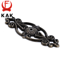 KAK Retro Zinc Alloy Bronze Handles Cabinet Door Drawer Antique Knobs Cupboard Wood Jewerly Box Pull For Furniture Hardware