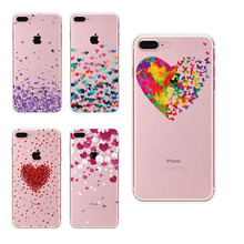 For iPhone 6 7 Case Cute Panda Hamster Animals Case For iphone 6S 5 5s SE Silicone Butterfly Love Hearts Pattern Back Cover(China)
