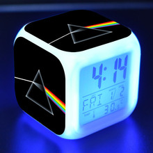 Pink Floyd figurines LED Alarm Clock Colorful Change Touch light Action Figure Desk Decoration Toys(China)