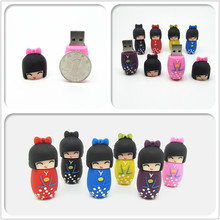 100% real capacity lovely Japanese Girl Geisha usb flash drive pendrive cute pen drive usb 2.0 4GB 8GB 16GB 32GB Fashion gift(China)