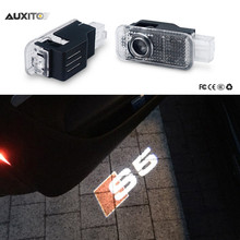 2x For Audi A3 A4 B6 B8 B7 A6 C6 C5 A7 A8 A5 Q3 Q7 Q5 80 TT S line RS S4 LED Car Door Light Ghost Shadow Projector S5 Logo Lamp