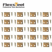 100 PCS 10*8MM Mini Cabinet Drawer Butt Hinge Copper Gold Small Hinge 4 Small Hole Hinge With Screws Hand Tools Hardware(China)