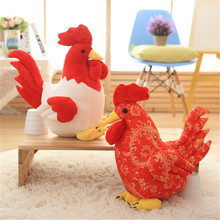 New Child Plush Toy Cute Baby Chicken Cock Handmade Pillow 40CM 2017 Zodiac Chicken Plush Toy Doll High Quality Child Gift
