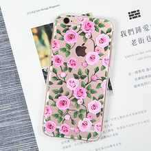 Cases For iPhone 5S 5 SE 6 6s 6plus 7 7 Plus TPU Case Fruits Flower Daisy Painting Cell Phone bags Smartphone Cases back Cover