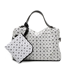 New Baobao Silicone Pillow Bag Briefcase Geometry Quilted Tote Shoulder Messenger Crossbody Bag 2piece/set