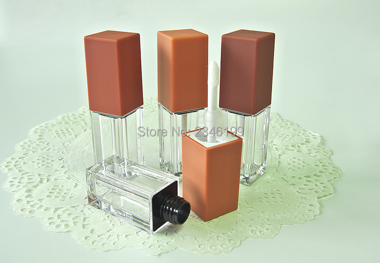 Pumpkin Color Lip Gloss Tube 5ml Transparent Lip Glaze Tube Cosmetic Container Lipgloss Packaging Empty Lip Gloss Container (7)