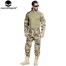 EMERSONGEAR G3 Tactical Shirt Pants with Knee Pads US Army Camo Airsoft Paintball BDU Uniform Pants Shirt MR EM7046 EM8593(China)
