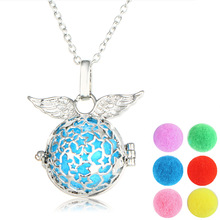 45+5cm Angel wings diffuser necklace Star aromatherapy perfume lockets necklaces & pendants Eessential oil accessory