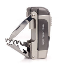 Multifunction High Quality  Windproof Cigarette Cigar Lighter W/Beer Opening Wine Bottle Opener Tools