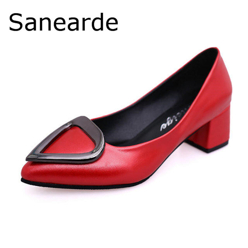 2017 Spring New Arrival Women Shoes Zapatos Mujer High Heels Square Heel Wedding Shoes Fashion Retro Pointed Toe  Women Pumps<br><br>Aliexpress