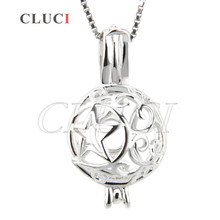 Buy CLUCI girls charm Star Ball shape hollow locket cage pendant 925 sterling silver necklace accessories women jewelry for $11.25 in AliExpress store
