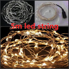 16.4ft 5m Sliver Wire warm white RGB purple cristmas LED String xmas Fairy Lights 12V christmas decoration outdoor New Year(China)