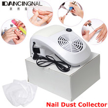 220V 40W Nail Art Salon Suction Dust Collector Vacuum Cleaner Manicure Filing Acrylic UV Gel Tips Machine Salon Tool EU US Plug(China)