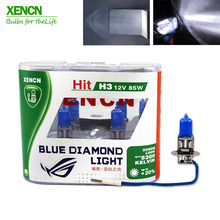XENCN H3 12V 85W Pk22s 5300K Xenon Ultimate White Blue Diamond Light Car Bulbs Germany Halogen Auto Fog Lamp for skoda fabia e60
