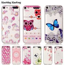 For Coque iPod Touch 6 Case Silicone Transparent Clear Phone Case For Funda iPod Touch 5 TPU Case Soft Thin Cover Cute Cartoon(China)