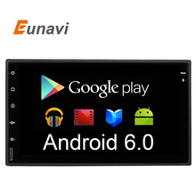 Eunavi 2017 Newest 2 Din Android 6.0 Universal Car Dvd Player PC GPS Navigation Stereo Video Multimedia Capacitive Screen