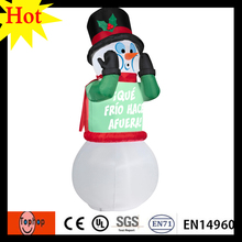 high 6m 19.6ft  christmas decoration supplier inflatable snowman for snow boots men new years eve party supplies 420D Oxford