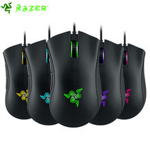 Razer DeathAdder Chroma Multi Color Ergonomic Gaming Mouse 10000 DPI Sensor Comfortable Grip World's Most Popular Gaming Mouse(China)