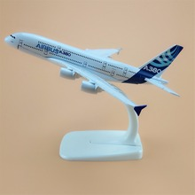 Alloy Metal Prototype Air A380 Airbus 380 Airlines Airplane Model Plane Model Stand Aircraft Kids Gifts 16cm(China)