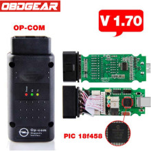 New opel OP com V1.70 with PIC18F458 For Opel op-com Car Diagnostic Tool OBD OBD2 OPCOM Car Diagnostic Scanner Free Software(China)
