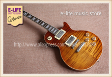 Upgraded Model China LP Standard Guitar One Piece Neck and Body Cut-away Bottom In Stock For Sale