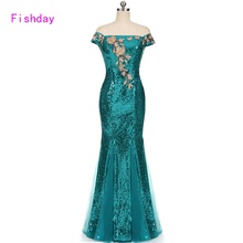 Floor Length Red Blue Mermaid Sequin Elegant Floral Ladies Cheap Long Prom Dresses Party 2017 Plus Size Mother of the Bride B20
