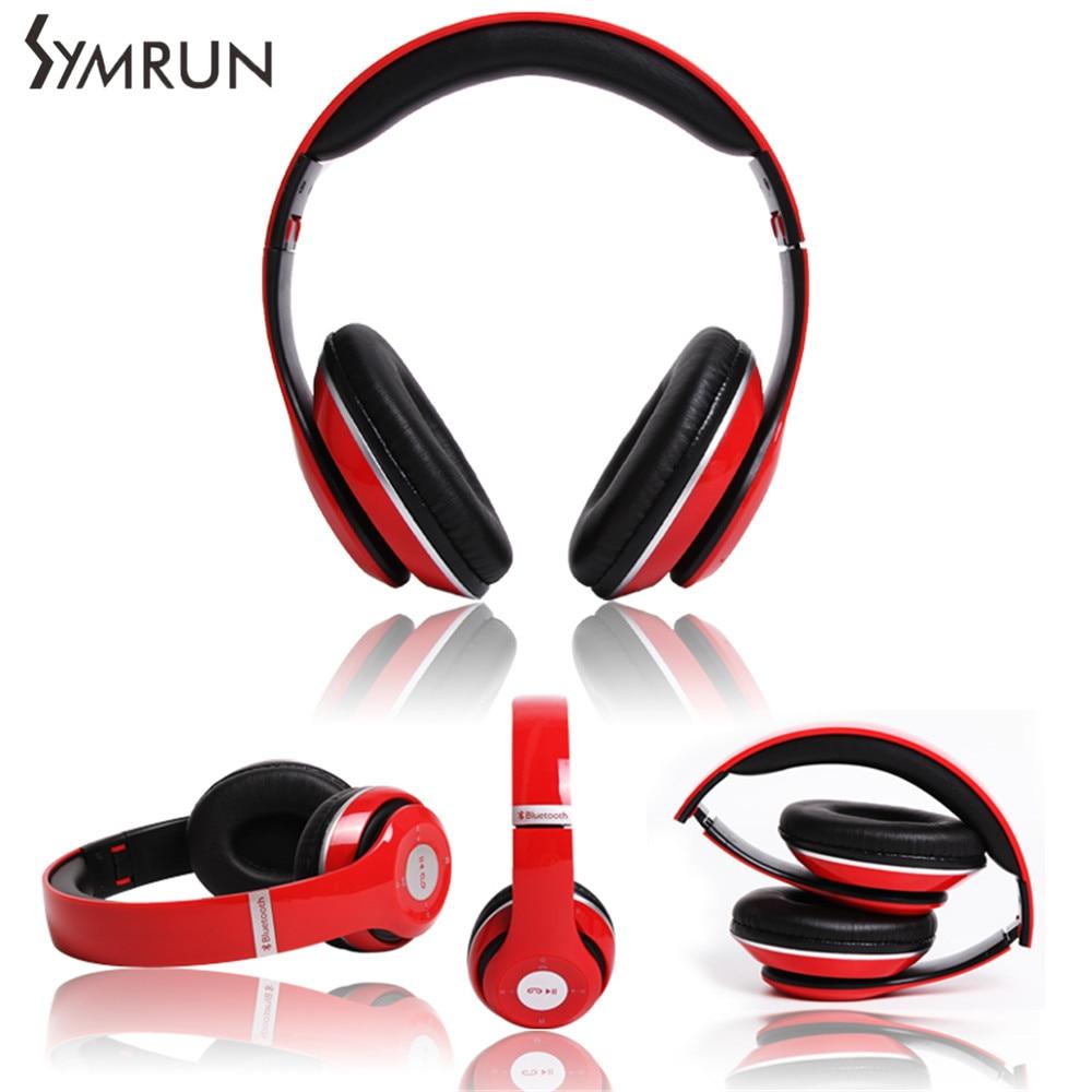 Symrun Bluetooth Headphones With MIC Wireless Music Foldable FM Radio TF Card Original For Xiaomi Foldable Hifi Headphone<br><br>Aliexpress