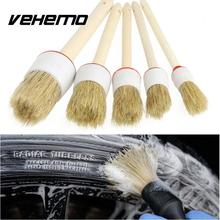 5 Pcs Car Accessories Wheel Brush Interio Dashboard car detailing Cleaning Supplies Car Wash Brush Car Seats Leather Furniture(China)
