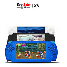 Original Coolbaby X8 intelligence game console hundreds Arcade game consoles Camera MP3 MP4 ebook handheld game player console
