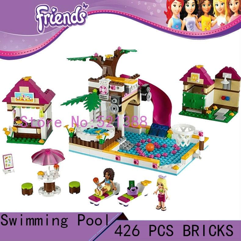 DIY Toys for children girl Heartlake City Pool CHIAN BRAND T899 Blocks self-locking bricks Compatible with Lego friends 41008<br><br>Aliexpress
