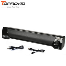 TOPROAD Wireless Subwoofer Bluetooth Speaker 10W TV Soundbar Receiver TF FM Super Bass Speakers Altavoz portatil For Phones PC