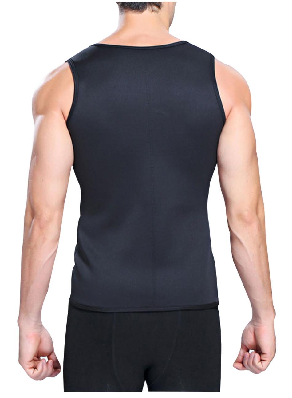 Hot Shapers Slimming T-shirt Neoprene Shaper Vest Men Slimming Body Shaper Corset Waist Trainer Belt Super Stretch Shapewear 6