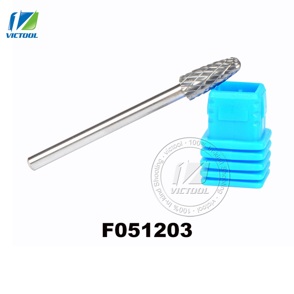 5pcs/lot F051203 Carbide F Arc with round head 5*12mm rotary burr file cutter grinding abrasive tools 3mm shank milling tools<br><br>Aliexpress