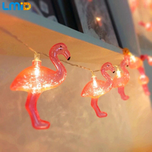 LMID Fairy Christmas Tree Ornament 3M 30LEDS Pink Flamingo LED String Light Bird Garland Wedding Night Decoration Bedroom Decor