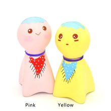 Funny Squishy Jumbo 14CM Japan Style Sunny Doll Home Figuriness DIY Kids Desk Toys Slow Rising Doll New Year Birthday Gift(China)