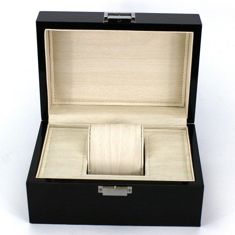 Wholesale Wood Watch Men Boxes Design Black Watch Storage Box Fashion Package Men Watch Gift Case B026<br>