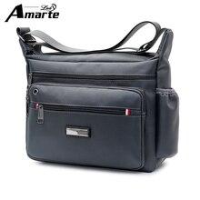 Amarte Men Bag 2018 New Fashion Mens Shoulder Bags High Quality Oxford Casual Messenger Bag Business Men's Travel Bags