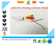Luckertech Secure High Quality Simple CCTV Analog  Camera Module Board Cable / Line Analog HD Video + Power Supply Port